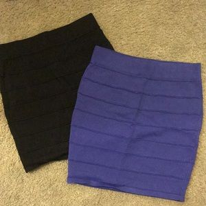 Bandage mini skirt. Wet seal